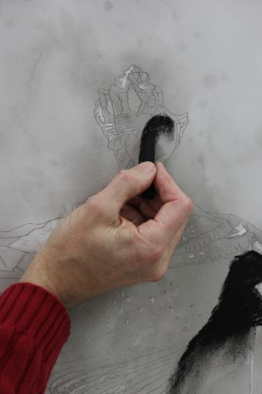 Process Illustration 5: Charcoal stick