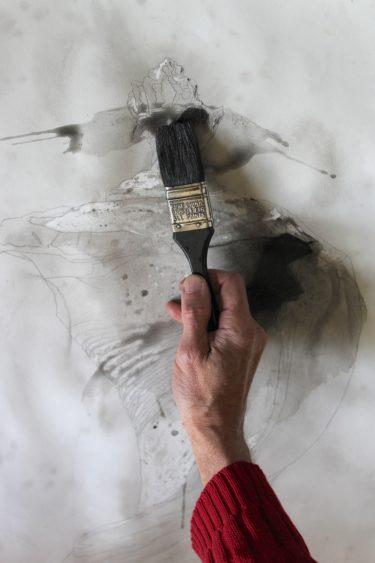 Process Illustration 6: Charcoal Wash