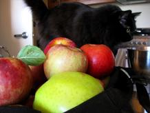 apple crisp, and a birthday