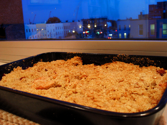apple crisp enjoys dramatic lighting