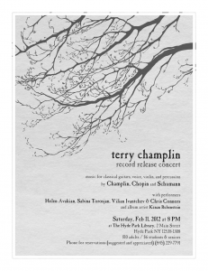 terry champlin record release show flyer